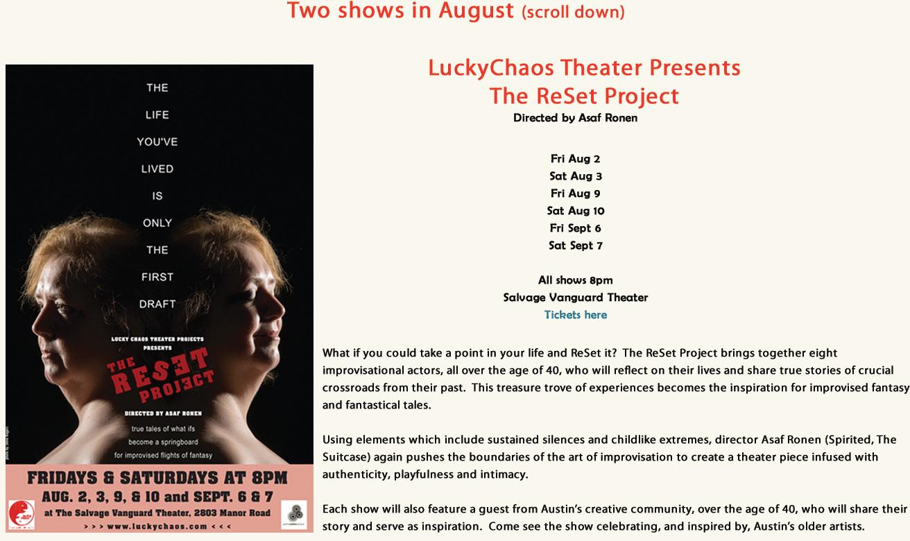 Austin Events-Reset Project