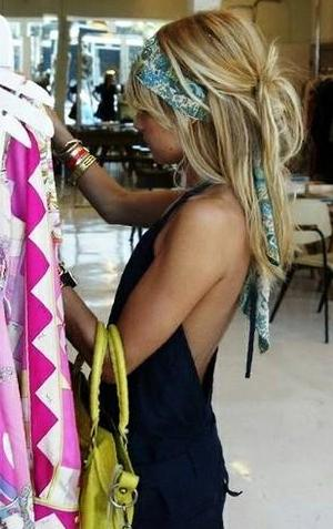Tie Up a Hair Scarf-2