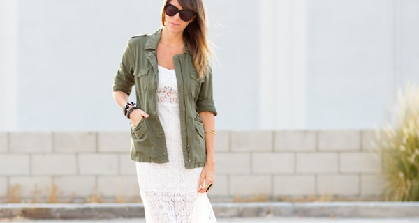 inspiring links-lace meet army jacket
