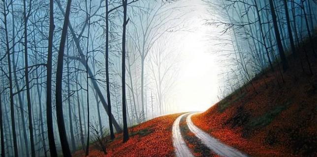 Lost In Autumn-Wes Van Dyke Art
