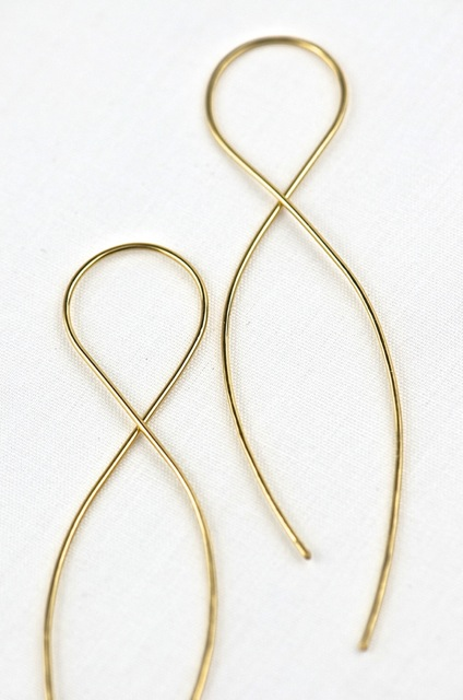 Gold Infinity Earring