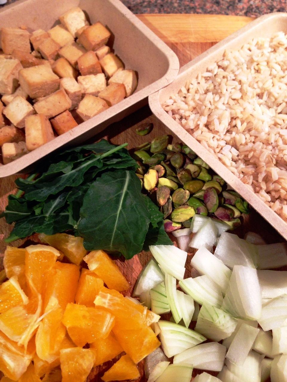 Pumpkin and Pistachio Stir Fry Ingredients