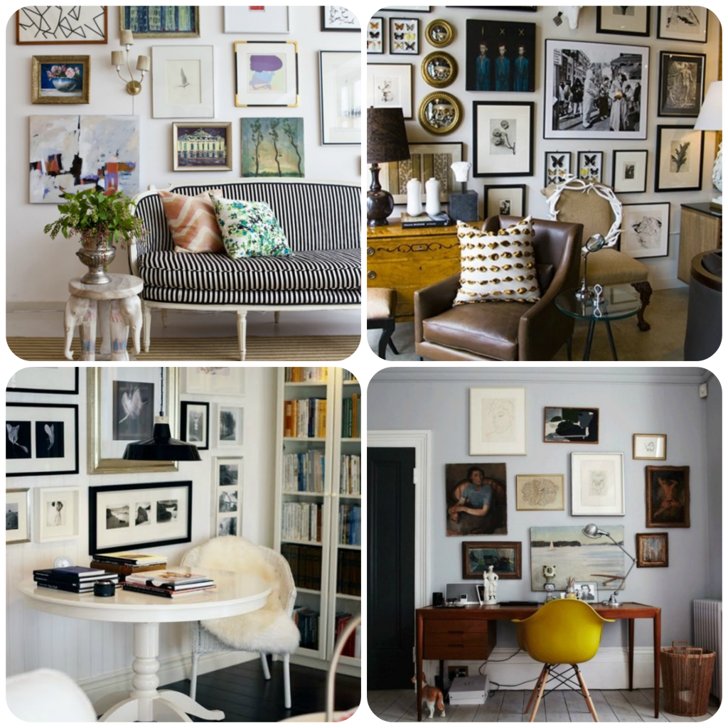 Art On Display Wall Collage